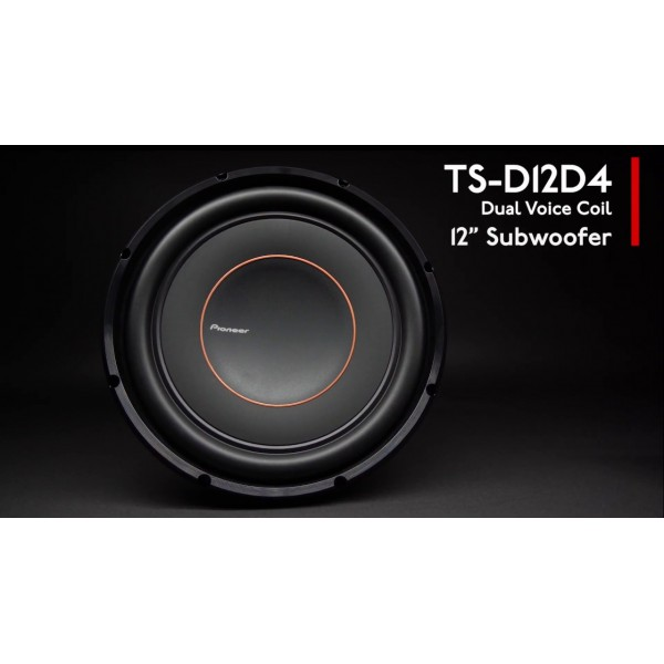 Pioneer TS-D12D4 12 Inch Subwoofer Dual Voice Coil 600RMS - 2000Watts