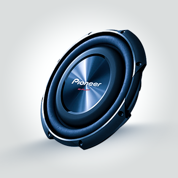 """Pioneer TS-SW2502S4 10"""" Shallow-Mount Subwoofer with 300watts RMS Power"""