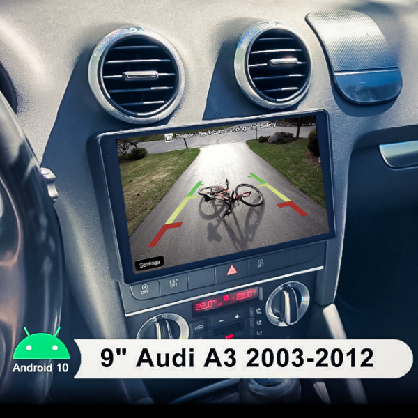 Audi A3 8P 2003 - 2012 9 Inch Android Navigation Touch Screen Radio