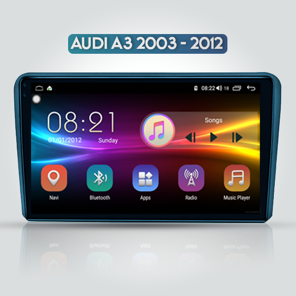 Audi A3 8P 2003 - 2012 9 Inch Android Navigation T...