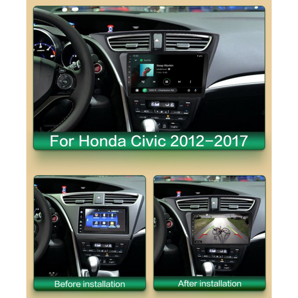 Honda Civic 2012 - 2017 9 Inch Android Navigation Touch Screen Radio