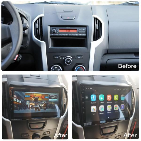 Isuzu KB D-MAX 2012 - 2018 9 Inch Android Satnav Radio Car Audio Sound System