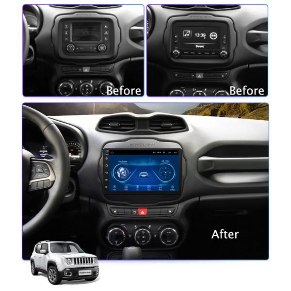 Jeep Renegade 2016 - 2018 10.1 Inch Android Satnav Radio Car Audio Sound System