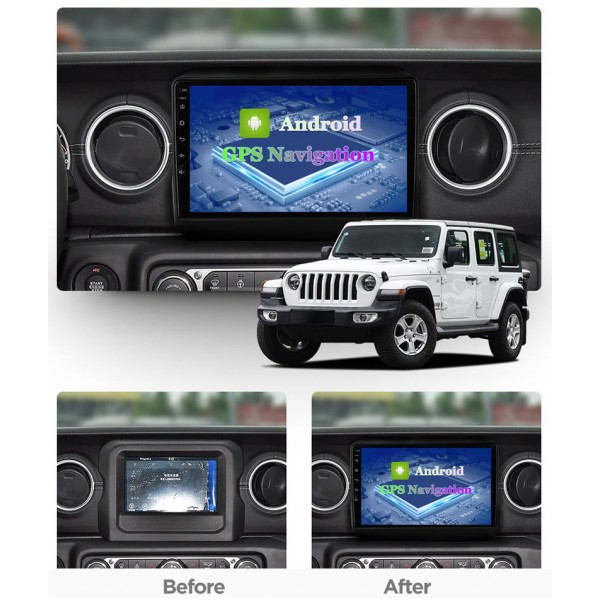 Jeep Wrangler JL 2018 - 2020 Android Satnav Radio Car Audio Sound System