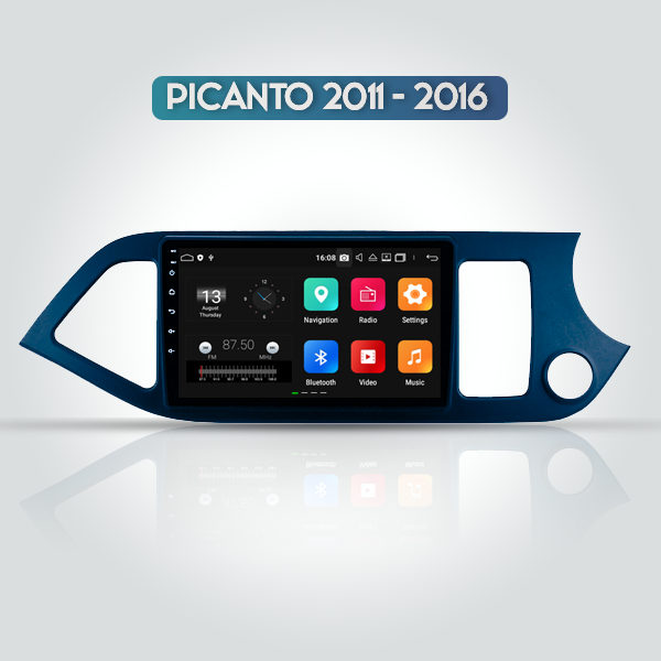 Kia Picanto 2011 - 2016 9 Inch Android Navigation ...