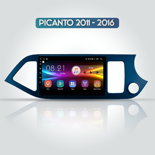 Kia Picanto 2011 - 2016 9 Inch Android Navigation Touch Screen Radio