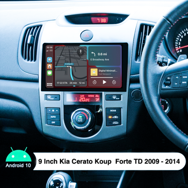 Kia Cerato Koup Forte 9 Inch 2009 - 2014 Android Navigation Touch Screen Radio