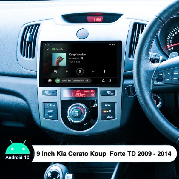 Kia Cerato Cerato Koup Forte 9 Inch 2009 - 2014 Android Bluetooth Touch Screen Radio