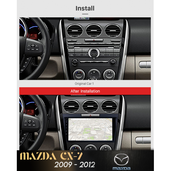 Mazda CX 7 2009 - 2014 9 Inch Android Satnav Radio Car Audio Sound System