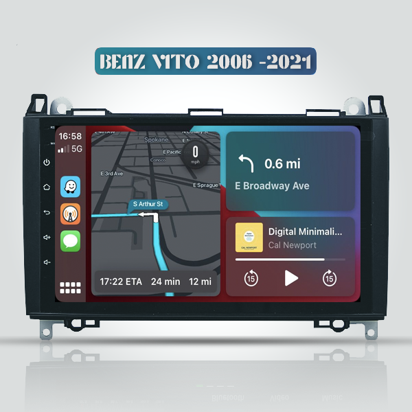 Mercedes Benz A Class/B Class Viano Vito 2006 - 2021 9 Inch Android Navigation Touch Screen Radio
