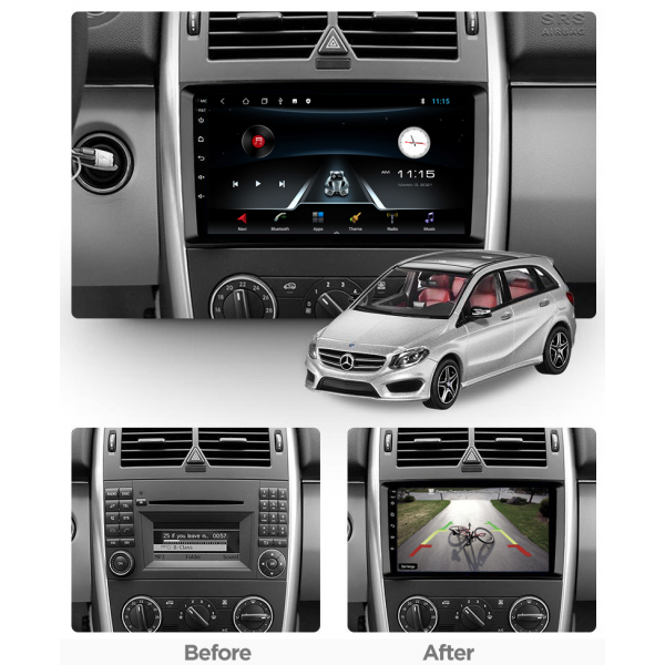 Mercedes Benz A Class/B Class Viano Vito 2006 - 2021 9 Inch Android Navigation Bluetooth Radio