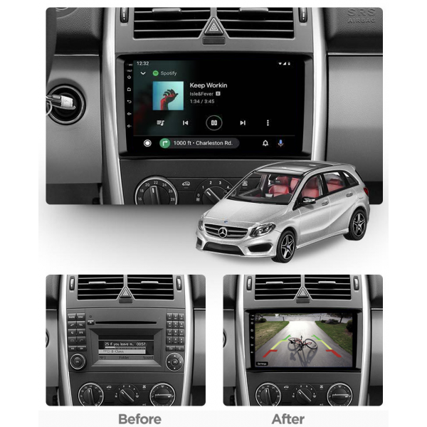 Mercedes Benz A Class/B Class Viano Vito 2006 - 2021 9 Inch Android Navigation Radio