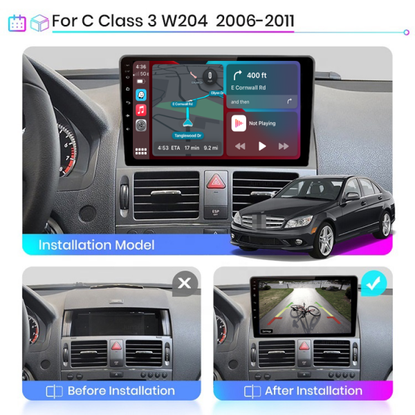 Mercedes Benz C-Class W204 2006 - 2011 9 Inch Android Touch Screen Radio