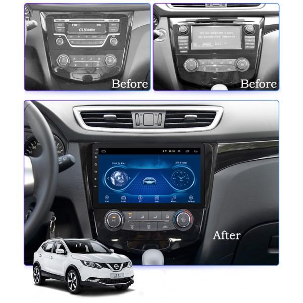 Nissan Xtrail Qashqai 2013 - 2016 10 Inch Android Satnav Radio Car Audio Sound System