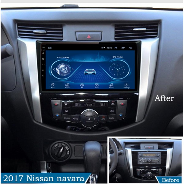 Nissan Navara 2016 - 2019 10 Inch Android Satnav Radio Car Audio Sound System