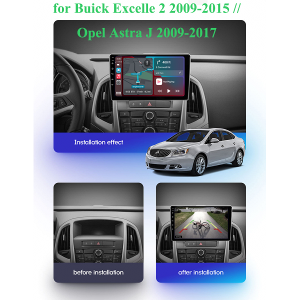 Opel Astra J 2009 - 2017 9 Inch Android Navigation Radio Touch Screen