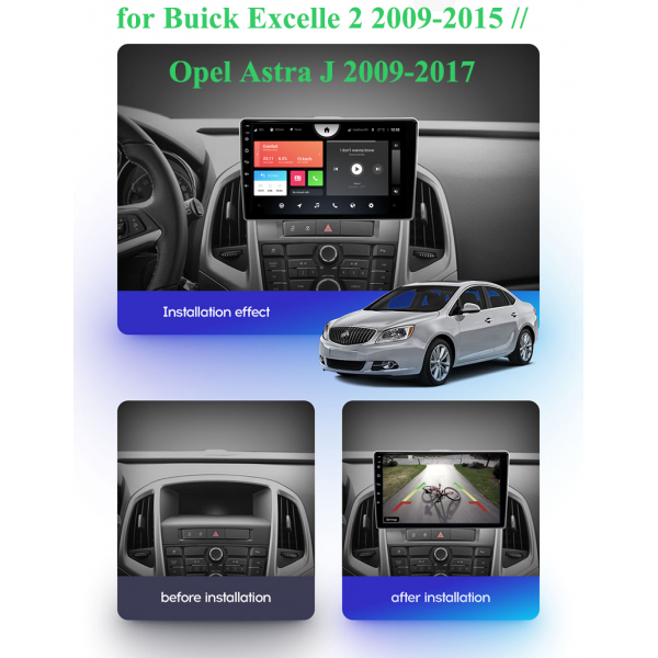 Opel Astra J 2009 - 2017 9 Inch Android Navigation Touch Screen Radio