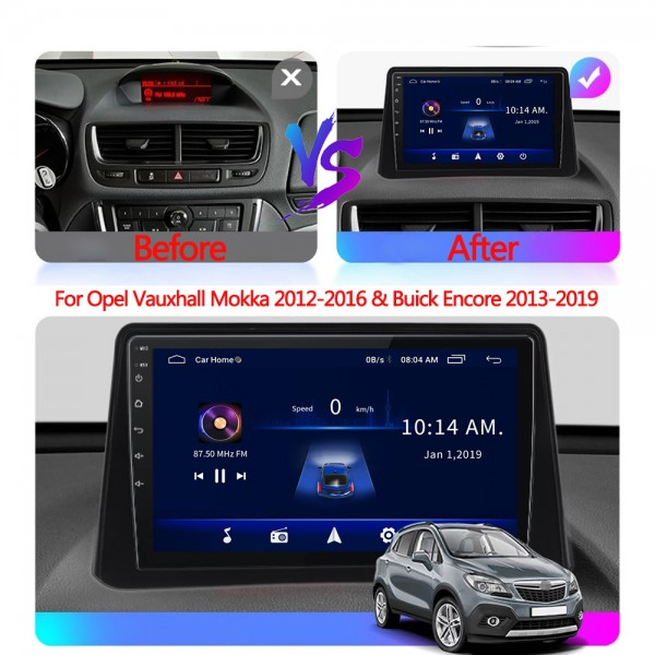 Opel Mokka 2013 - 2016 9 Inch Android Navigation Multimedia Touch Screen