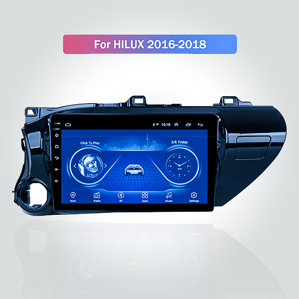 Toyota Hilux 2016 - 2019 10.1 Inch Android Satnav ...