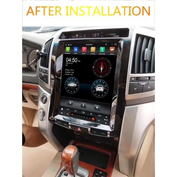 Land Cruiser 200 2008 - 2015 Tesla 12.8 Inch Android Satnav Radio Car Audio Sound System