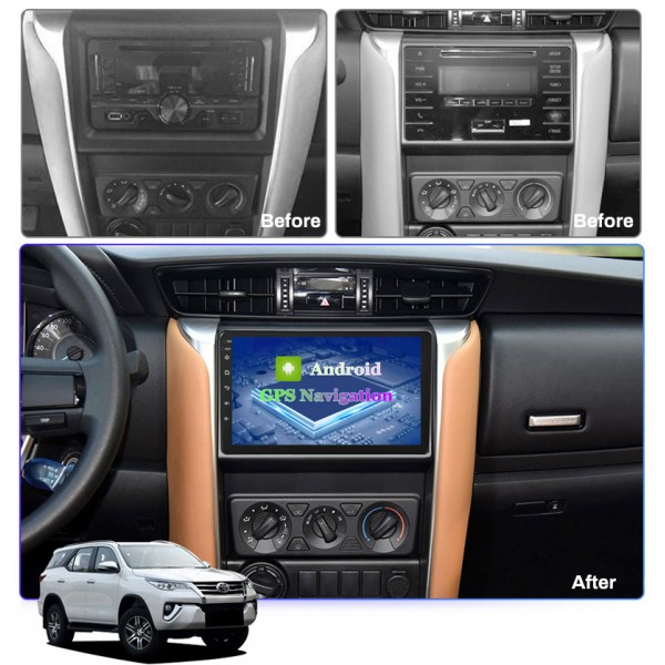 Toyota Fortuner 2016 - 2018 9 Inch Android Car Audio Sound System