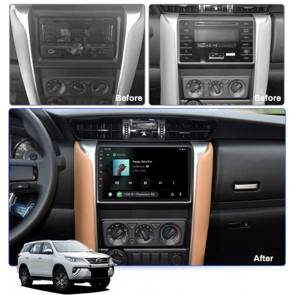 Toyota Fortuner 2015 - 2018 9 Inch Android Navigation Touch Screen Radio
