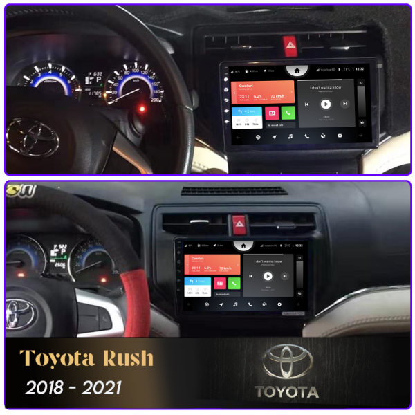 Toyota Rush 2018 - 2021 9 Inch Android Car Audio Sound System