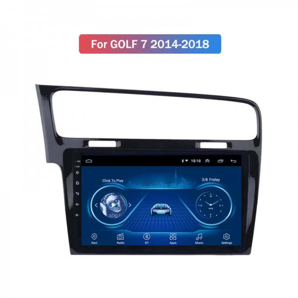 Volkswagen Golf 7 LHD 2014 - 2018 10.1 Inch Androi...