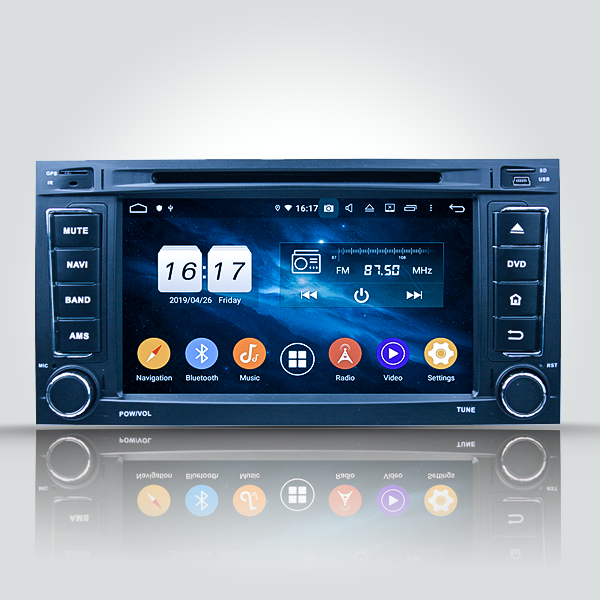 Volkswagen Touareg T5 2004 - 2011 7 Inch Android D...