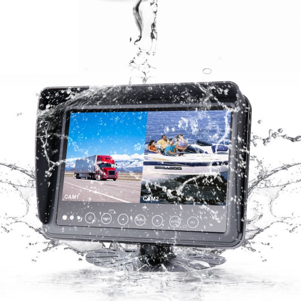 Truck and Forklift Dual View 7 Inch Front and Rear Reversing Camera Waterproof