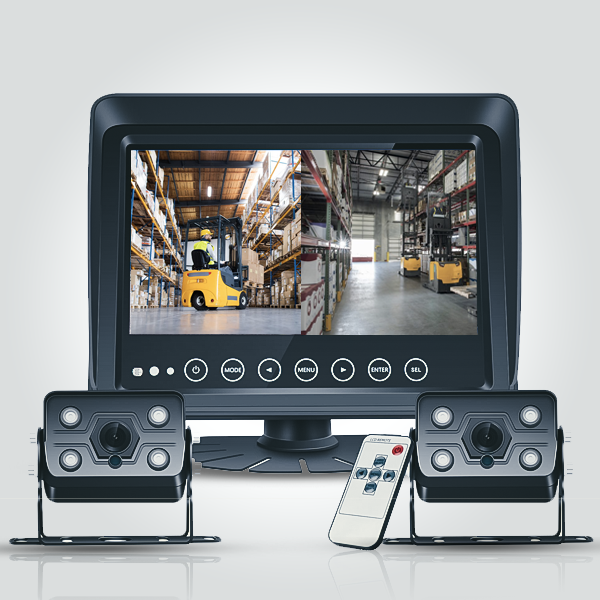 Truck and Forklift Dual View 7 Inch Front and Rear...